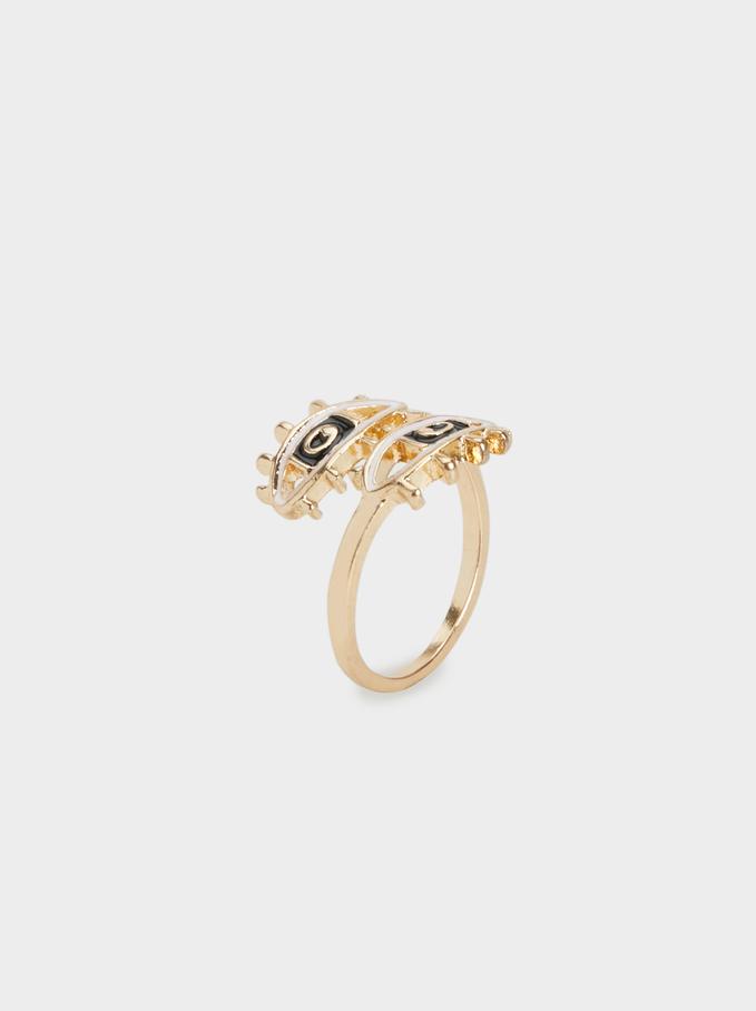 Karpa Eye Ring, Navy, hi-res