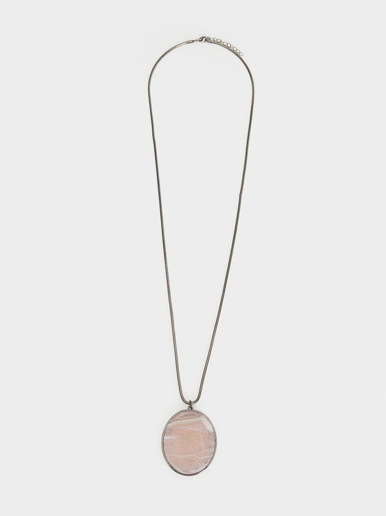 Cosmic Pink Long Pendant Necklace, Multicolor, hi-res