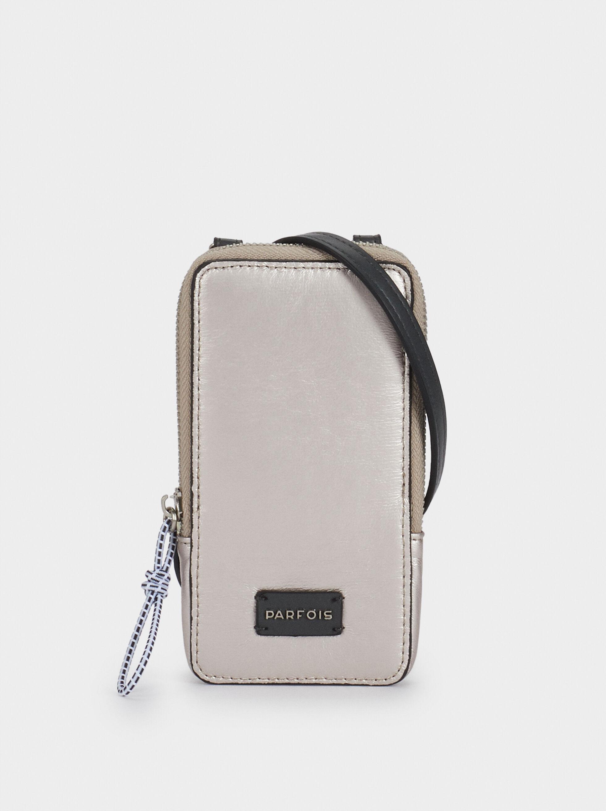 Phone Case With Shoulder Strap, Pink, hi-res