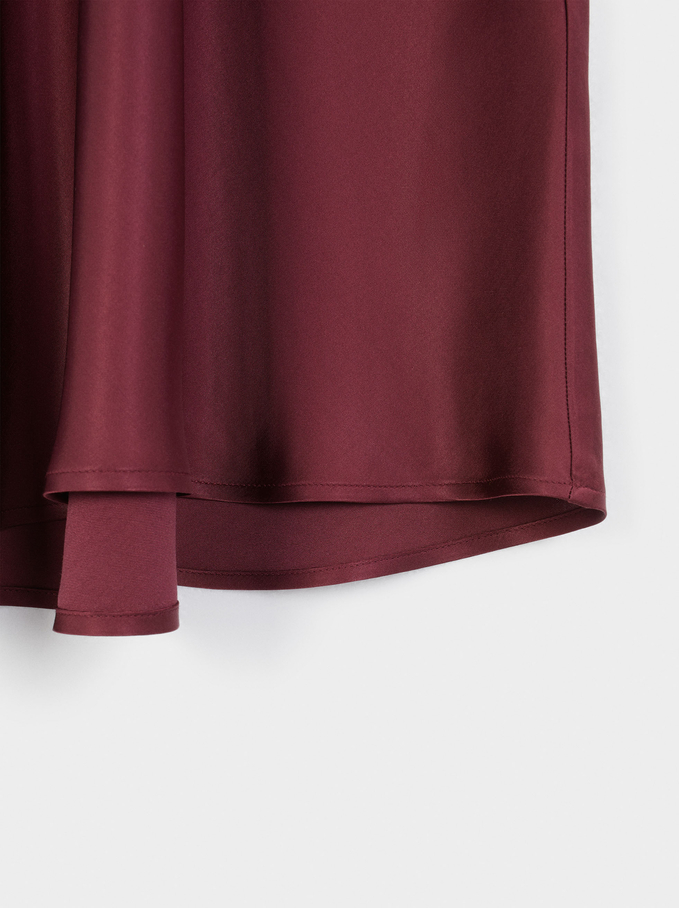 Limited Edition Long Skirt, Bordeaux, hi-res