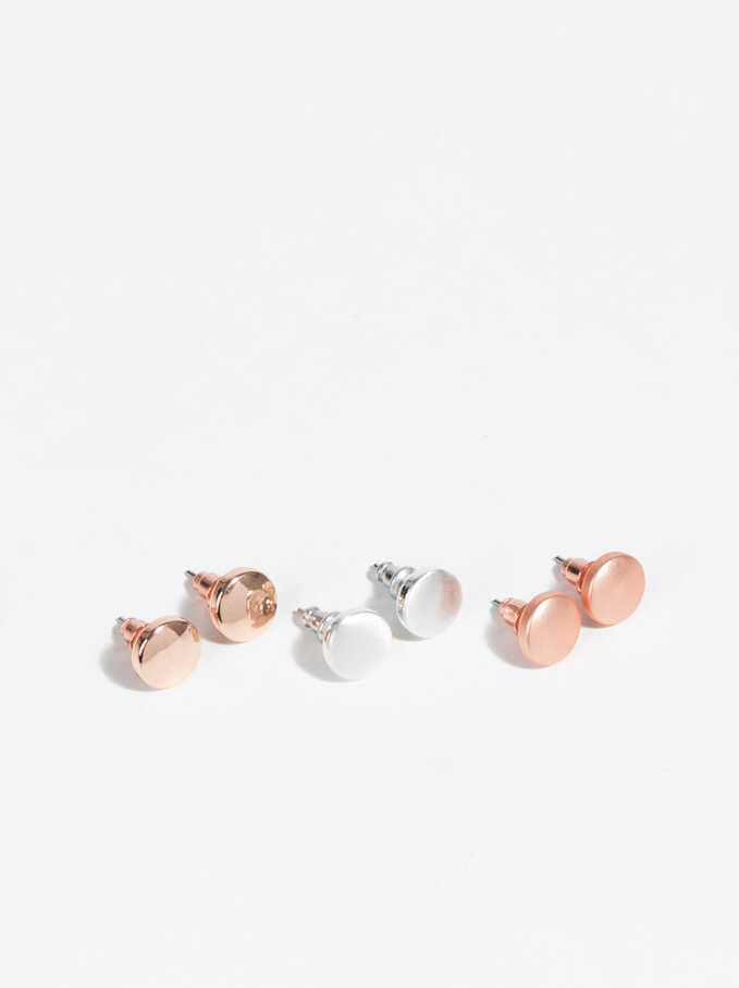 Basic Earrings, Multicolor, hi-res