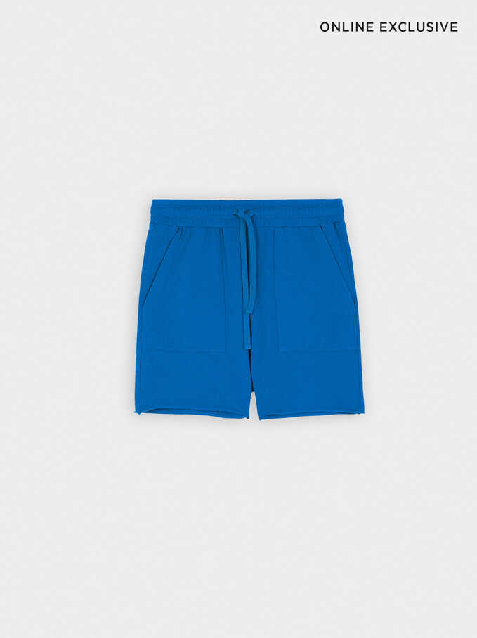 Shorts With Pockets, Blue, hi-res
