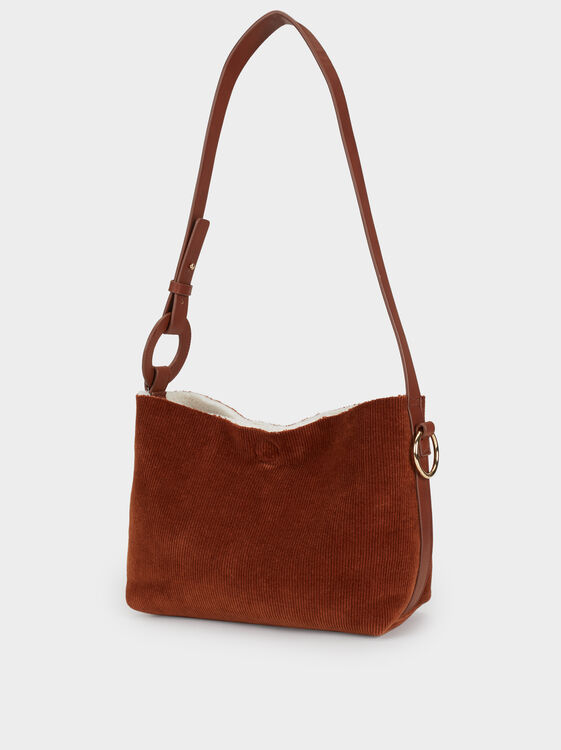 Reversible Crossbody Bag, Camel, hi-res