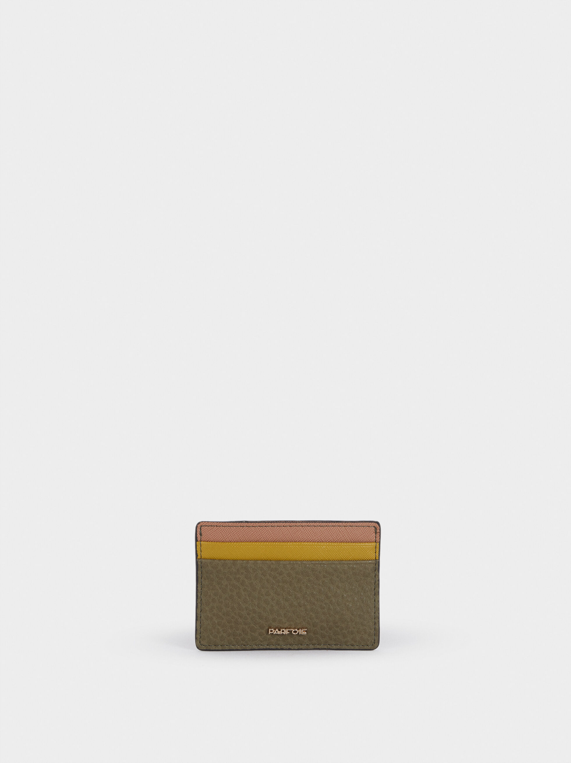 Embossed Card Holder , Khaki, hi-res