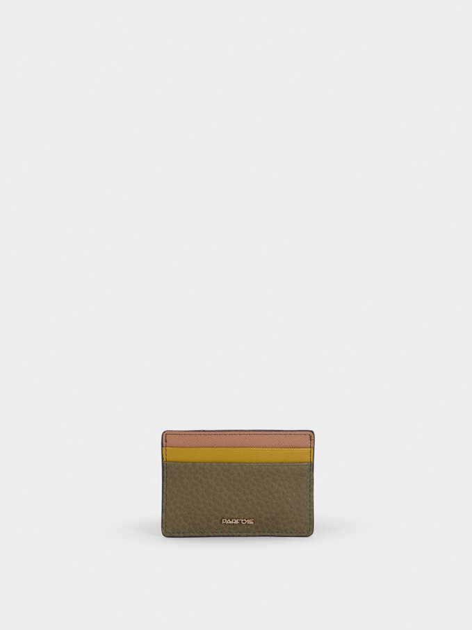 Embossed Card Holder , Khaki, hi-res