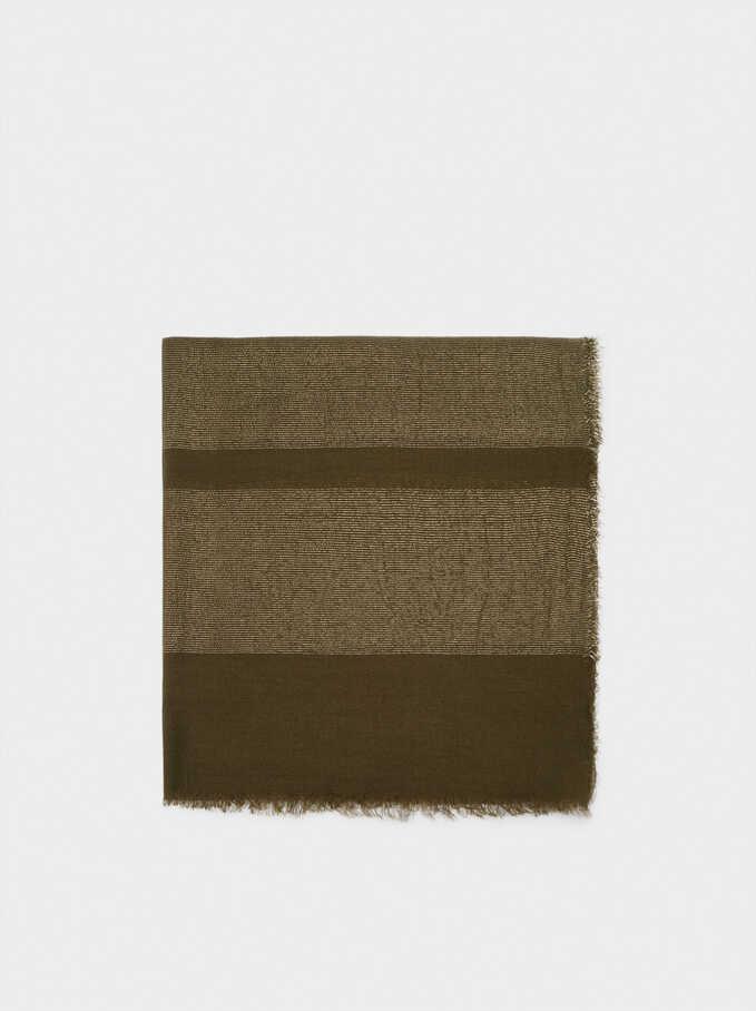 Formal Pocket Square, Khaki, hi-res