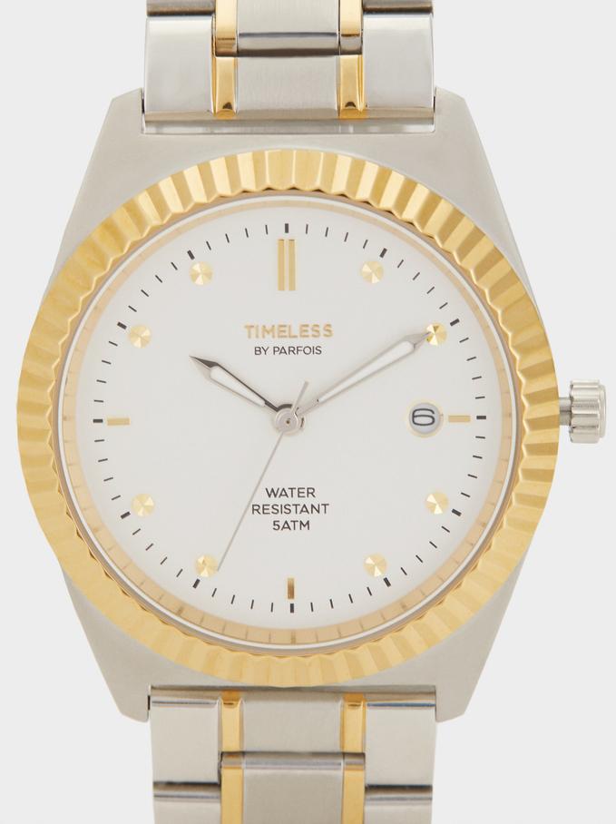Relógio Em Aço Inoxidável Special Edition, Prateado, hi-res