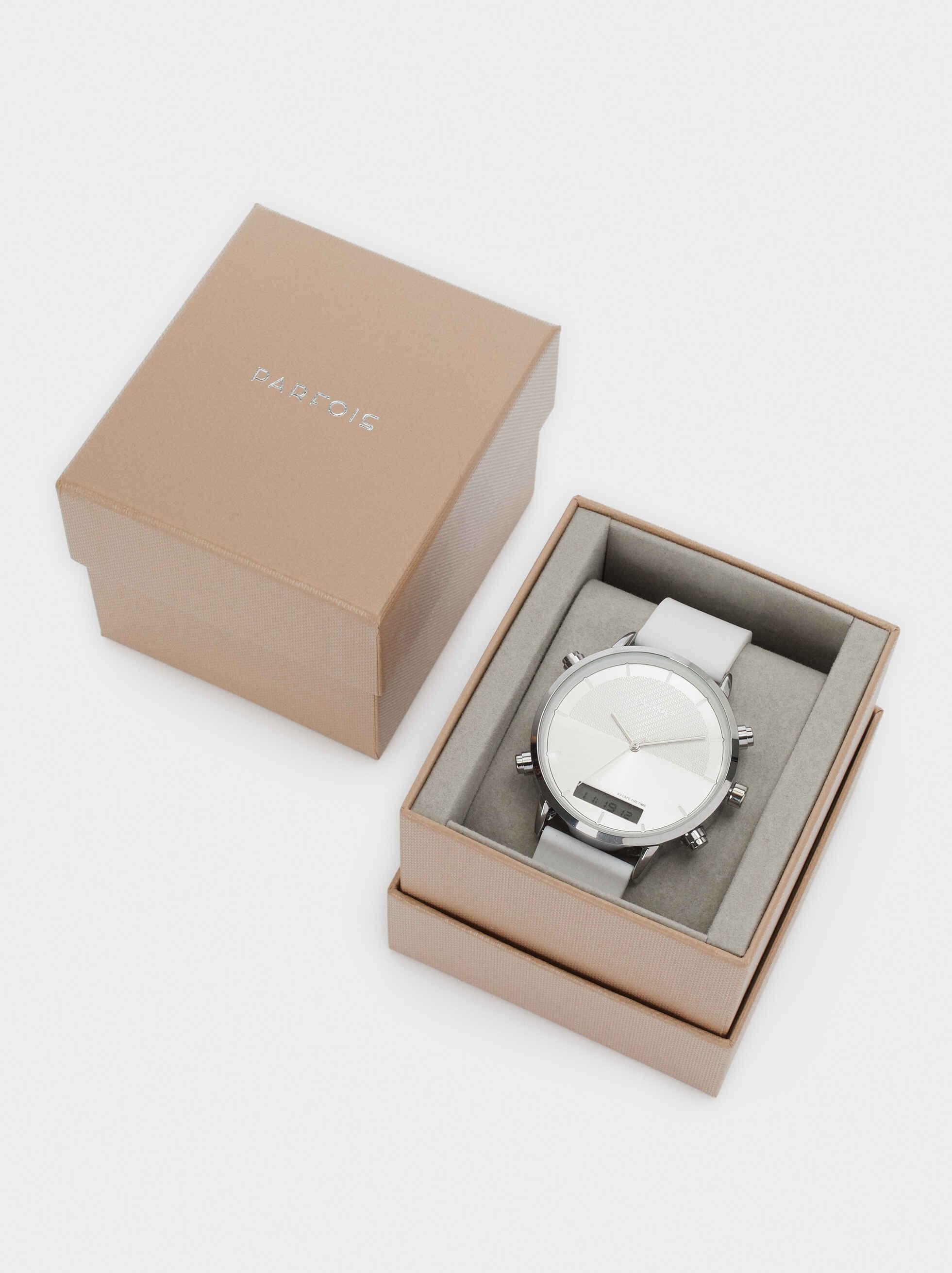 Reloj Digital Correa De Silicona, Blanco, hi-res