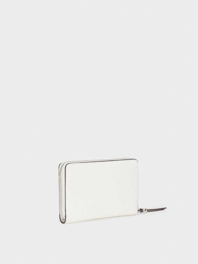 Plain Wallet, Ecru, hi-res