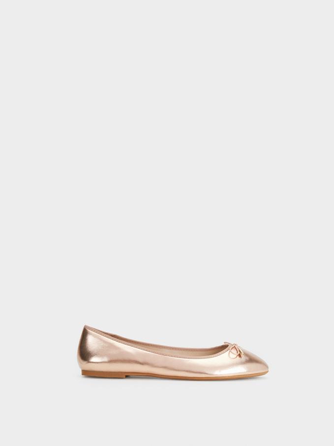 Special Price Ballet Flats, Orange, hi-res