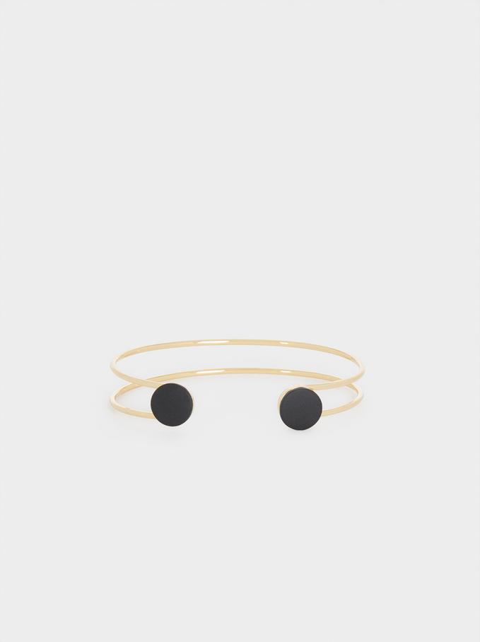 Rigid Double Bracelet, Black, hi-res
