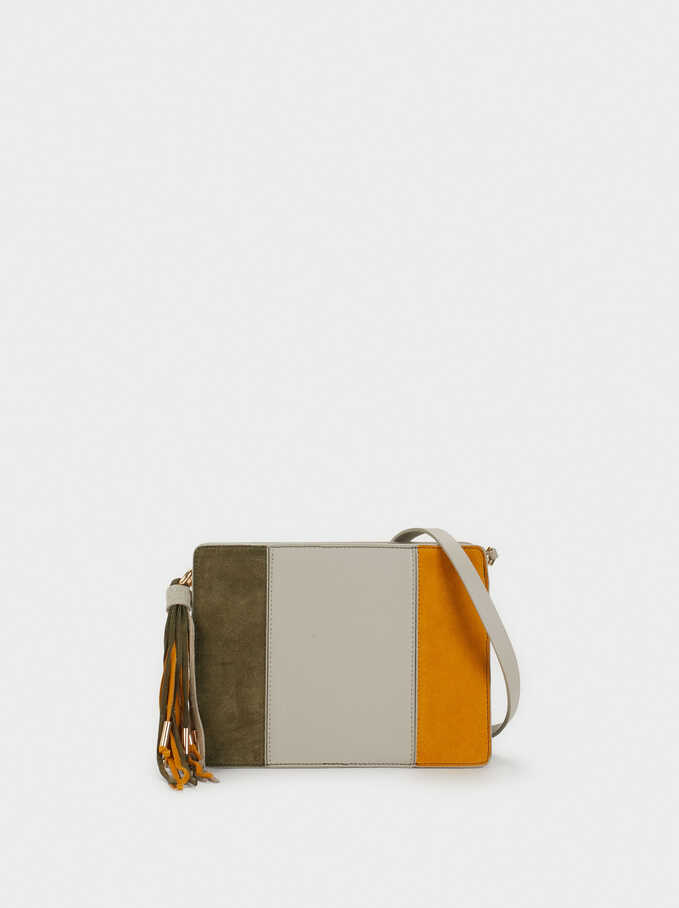 Suede Crossbody Bag, Brown, hi-res