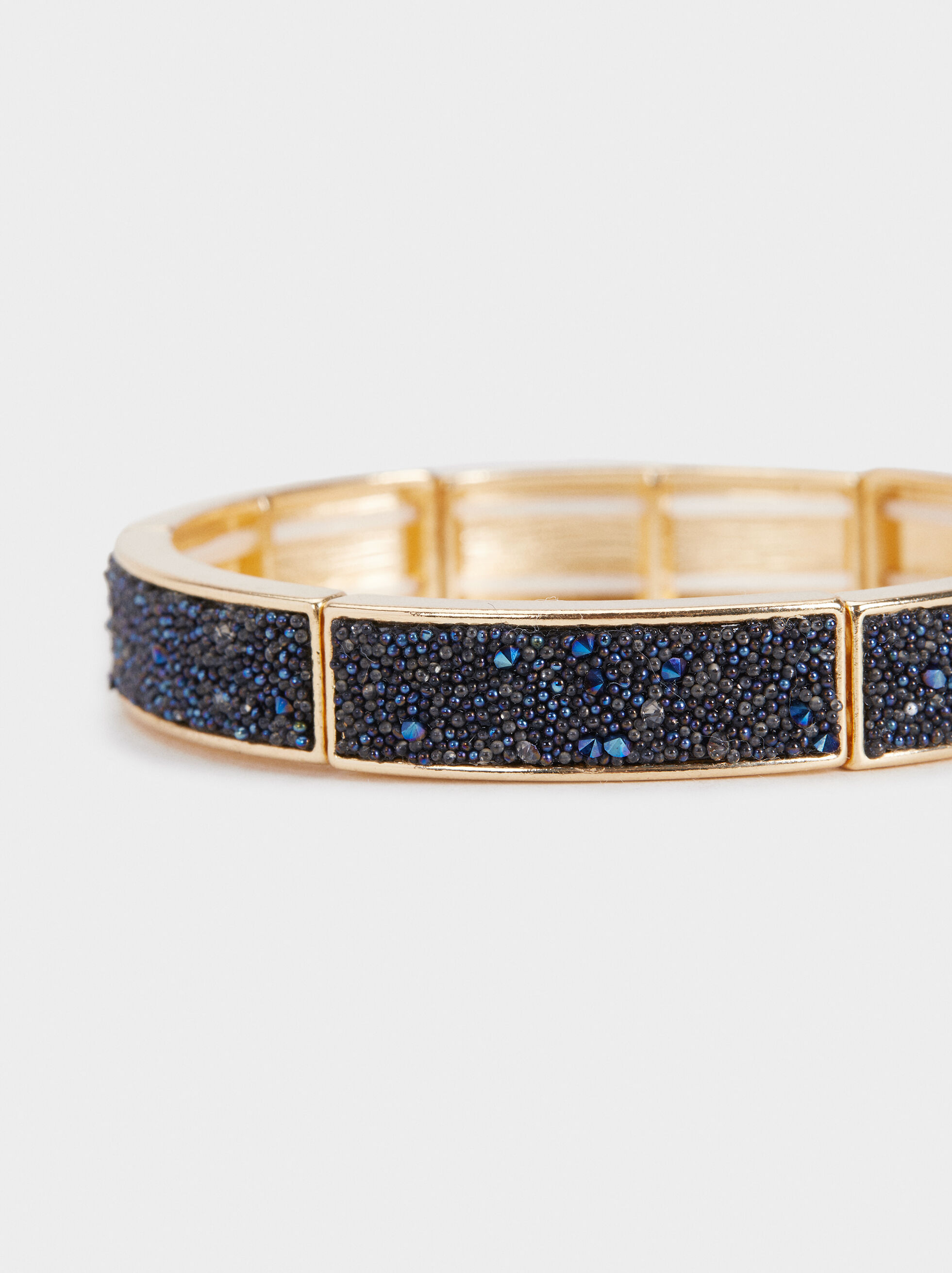 Savage Sparkle Elastic Bracelet, Blue, hi-res