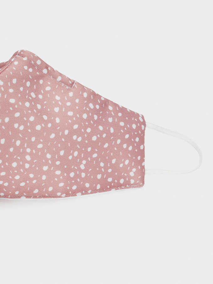 Reusable Printed Mask, Pink, hi-res