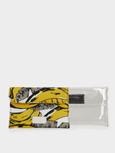 Printed Multipurpose Purse, Yellow, hi-res