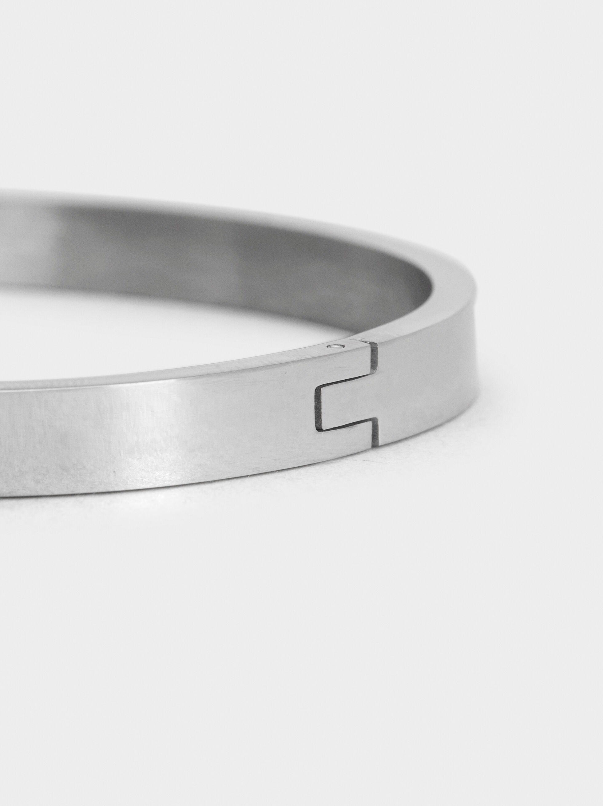 Steel Bracelet With Stars, Silver, hi-res