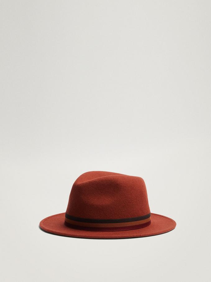 Woollen Hat, Orange, hi-res
