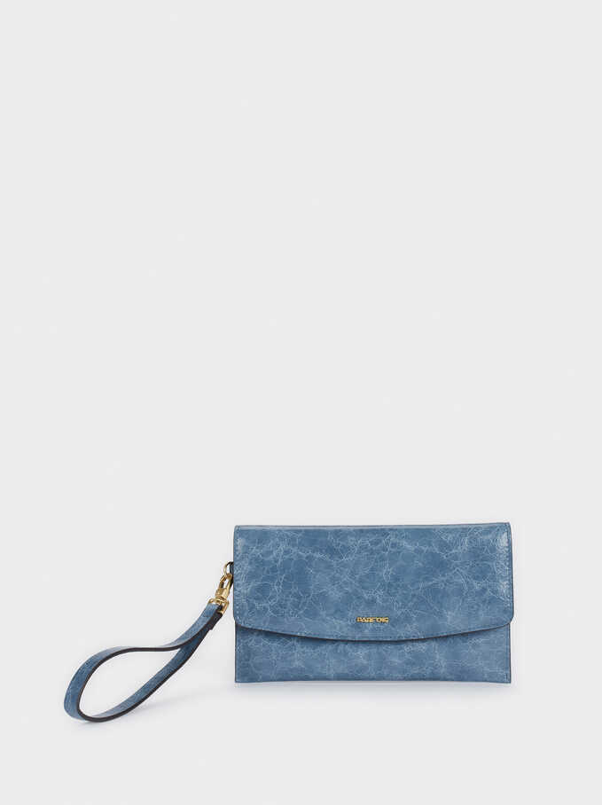 Cosmetic Purse With Handle, Blue, hi-res