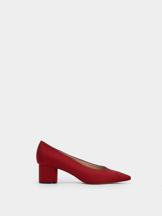 Shoes With Round Heel, Red, hi-res