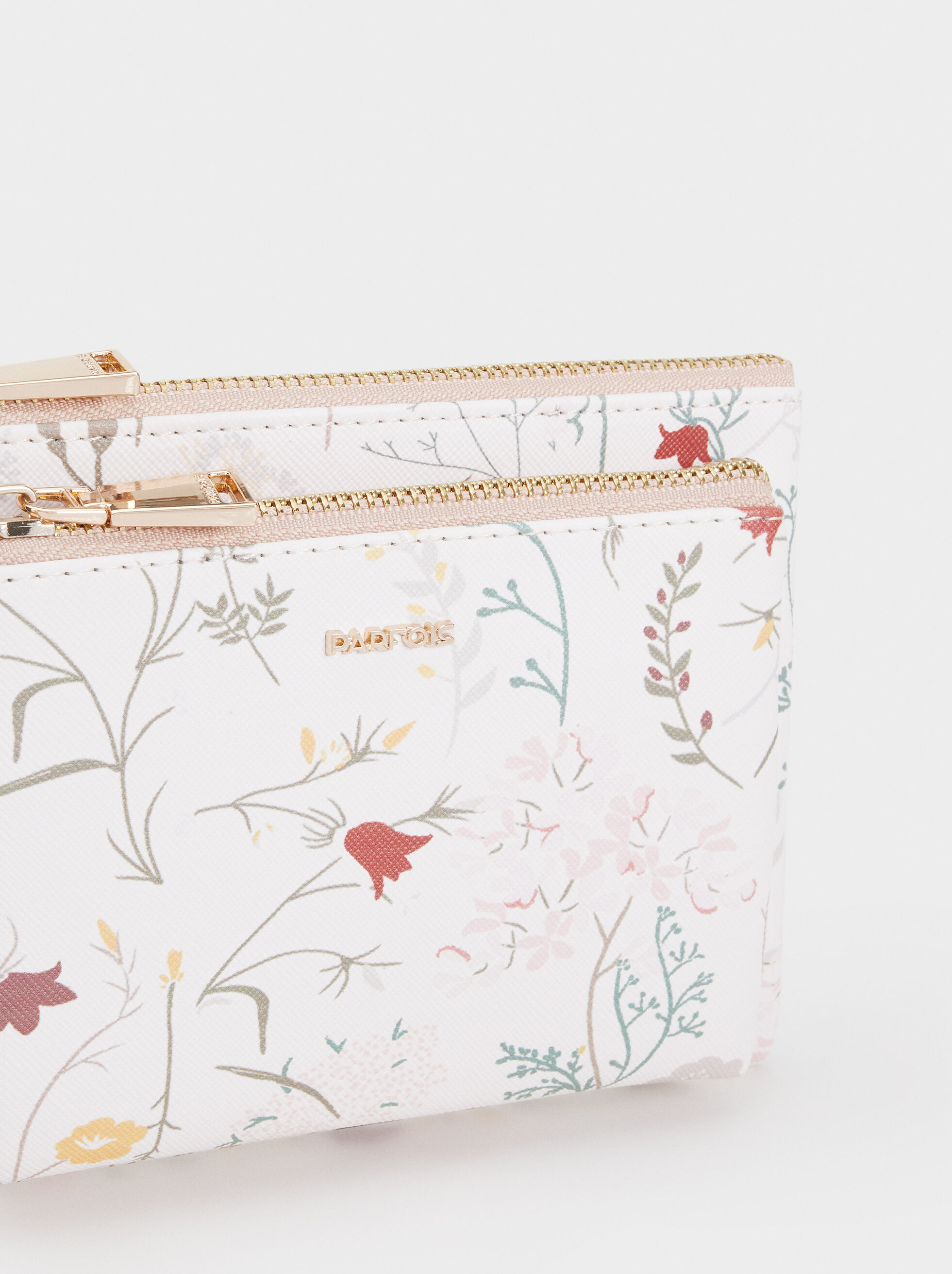 Floral Print Toiletry Bag, Ecru, hi-res