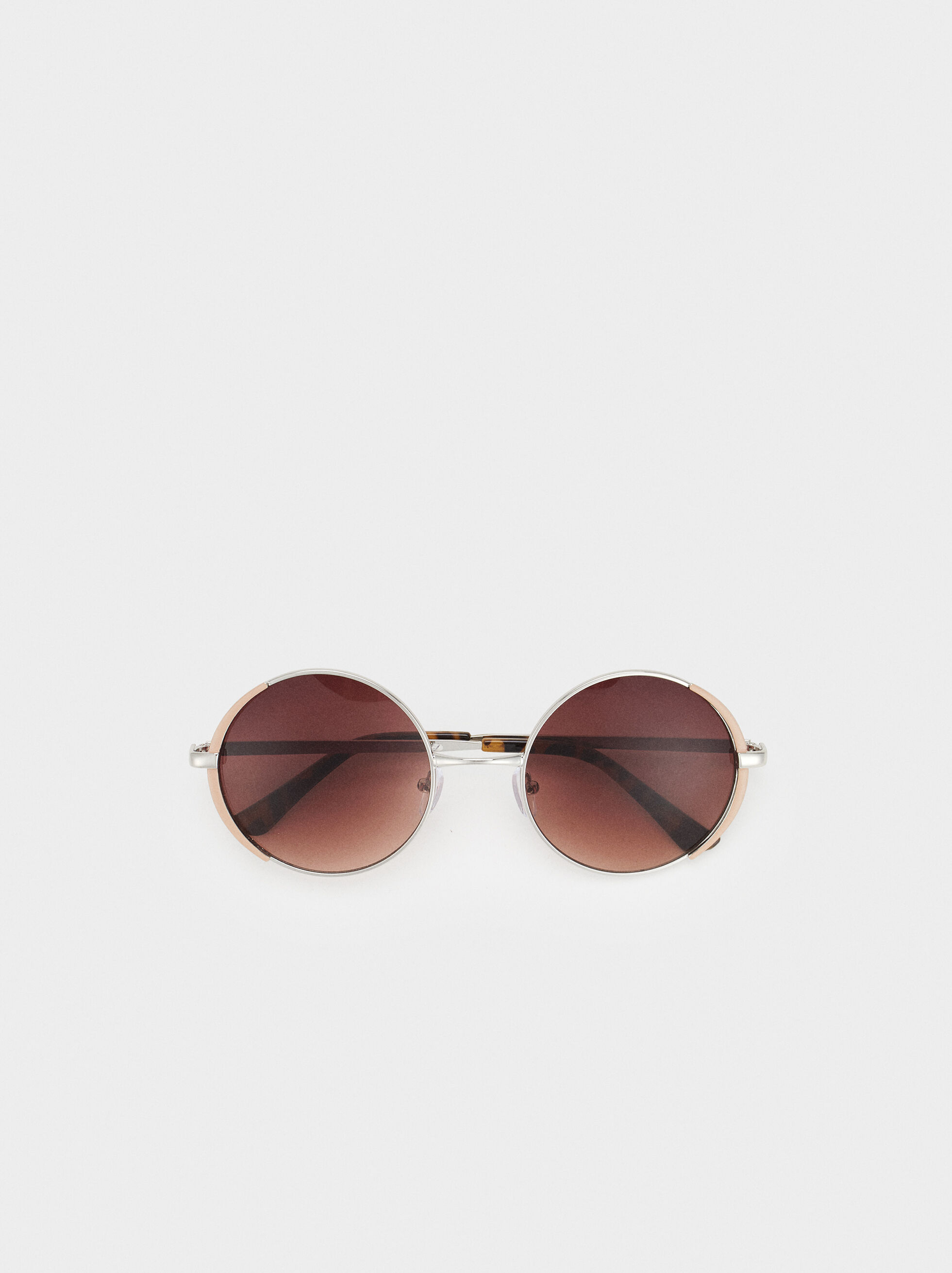 Round Metal Sunglasses, Pink, hi-res