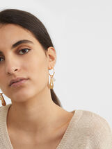 Creme Medium Hoop Earrings, Multicolor, hi-res