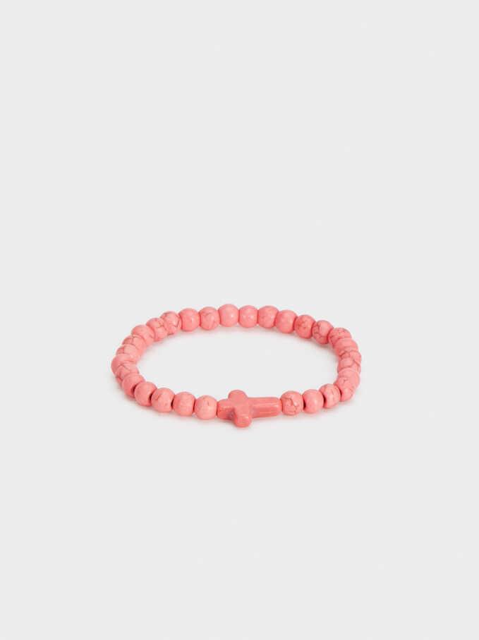 Cross Bracelet, Coral, hi-res