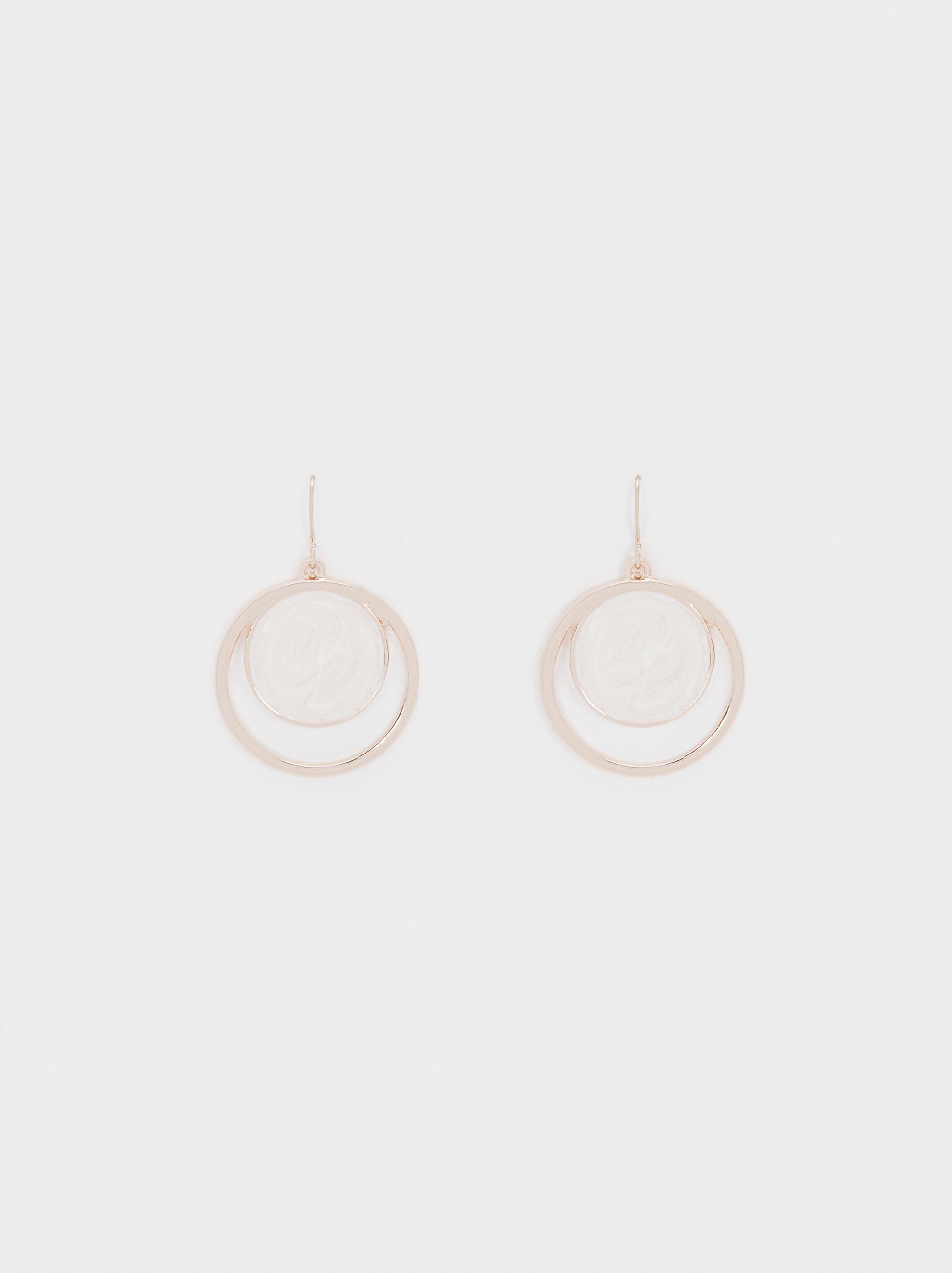 Medium Rose Gold Earrings, Orange, hi-res