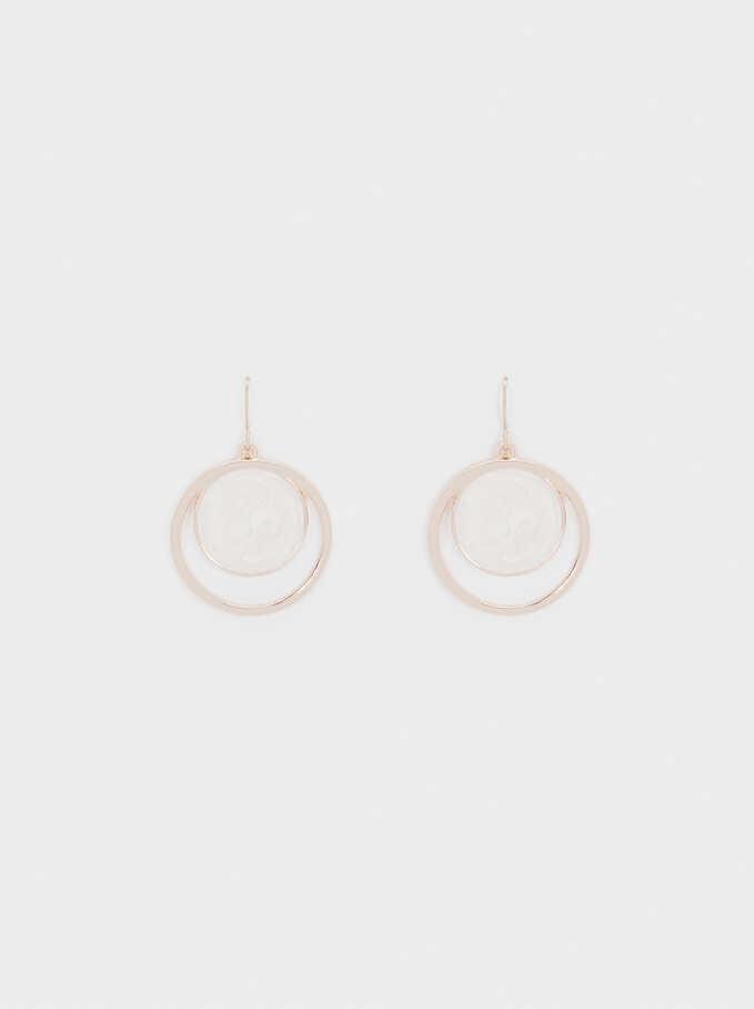 Medium Rose Gold Earrings, Orange, hi-res