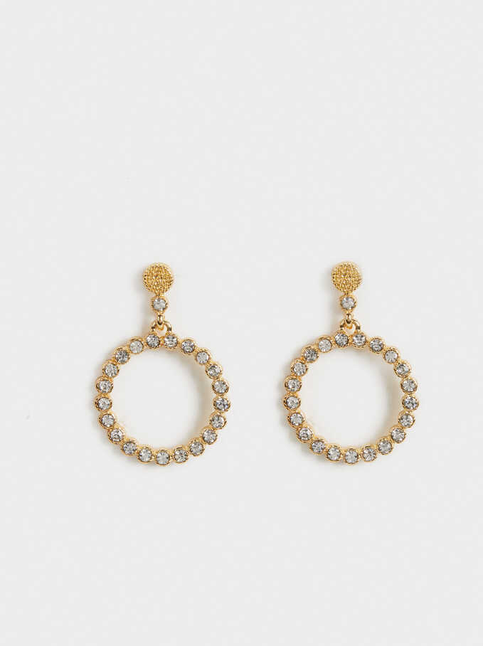 Medium Shiny Earrings, Golden, hi-res