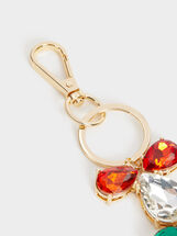Bejewelled Key Ring, Multicolor, hi-res