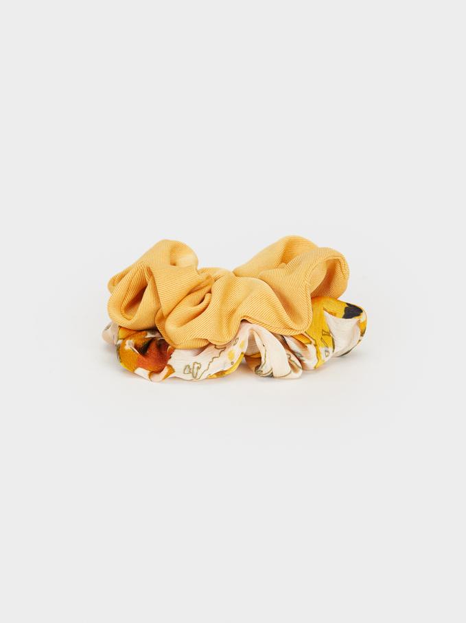 Set Of Hair Scrunchies, Multicolor, hi-res