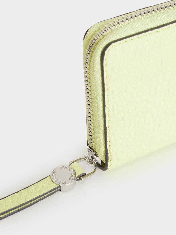 Medium Textured Card Holder, Yellow, hi-res