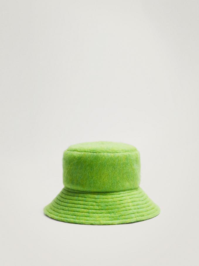 Gorro Bucket Con Textura, Verde, hi-res