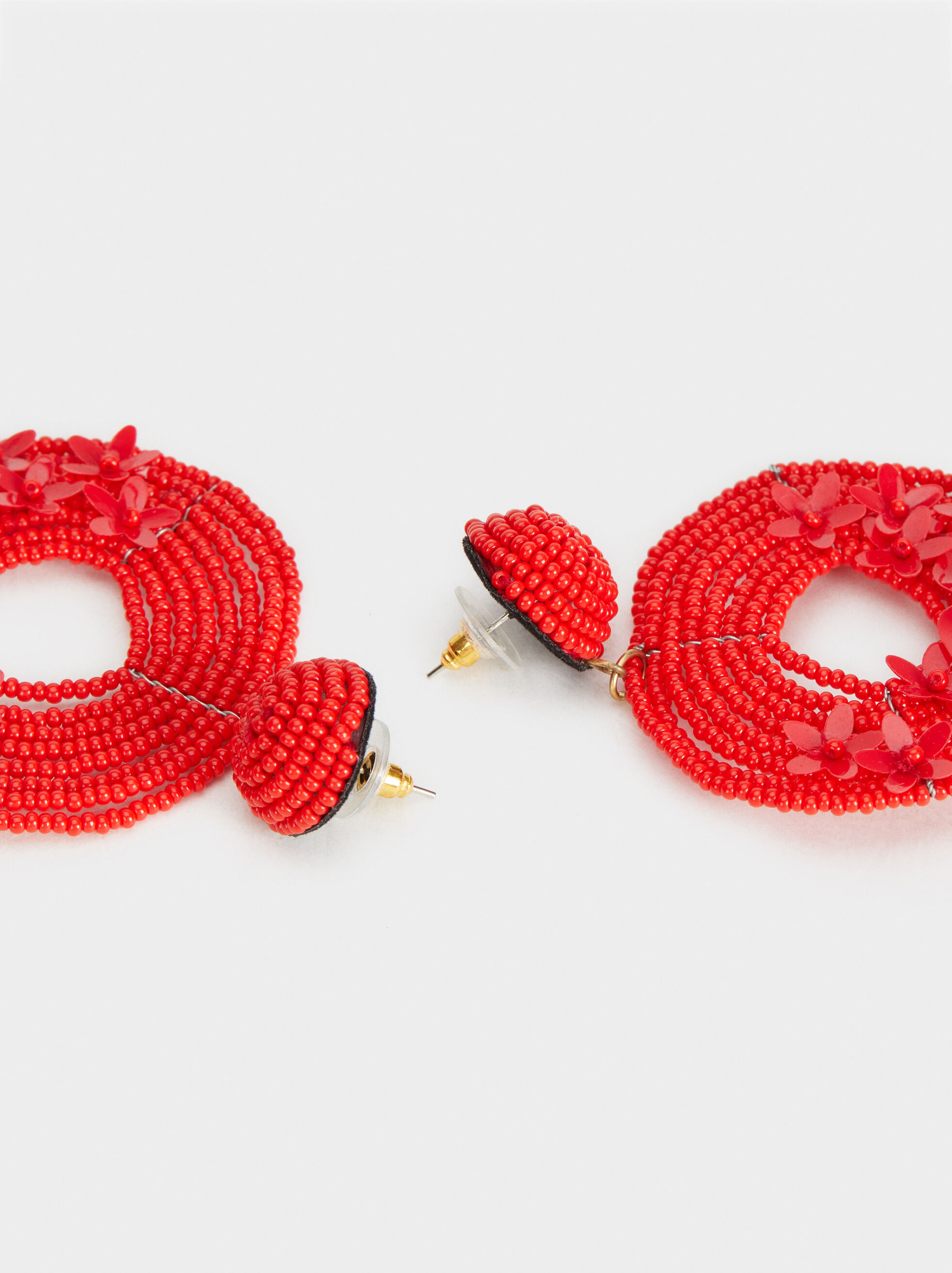 Strawberry Fields Dangle Earrings, Red, hi-res