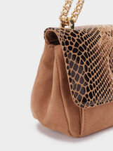 Animal Embossed Crossbody Bag, Beige, hi-res