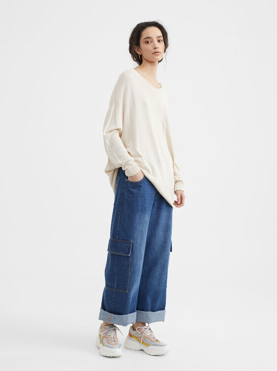 Oversize Knit Sweater, , hi-res