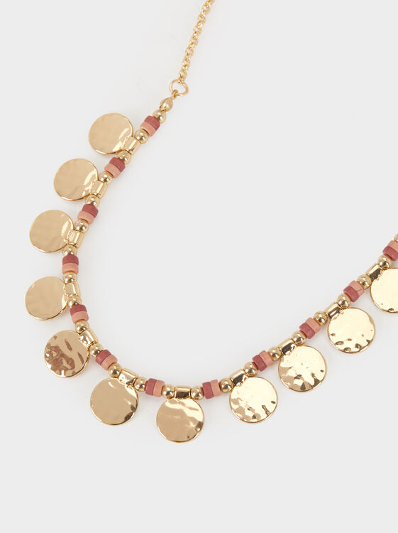 Land Short Necklace With Beading, Multicolor, hi-res