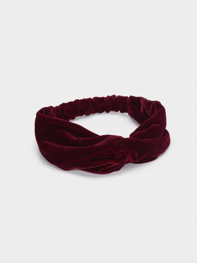 Turban-Style Headband , Bordeaux, hi-res