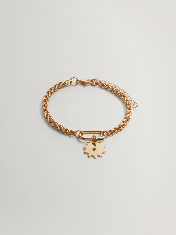 Gold Chain Link Bracelet, Golden, hi-res