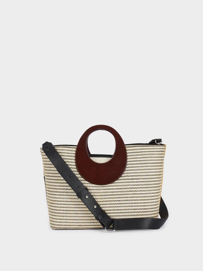 Patchwork Tote Bag, Black, hi-res