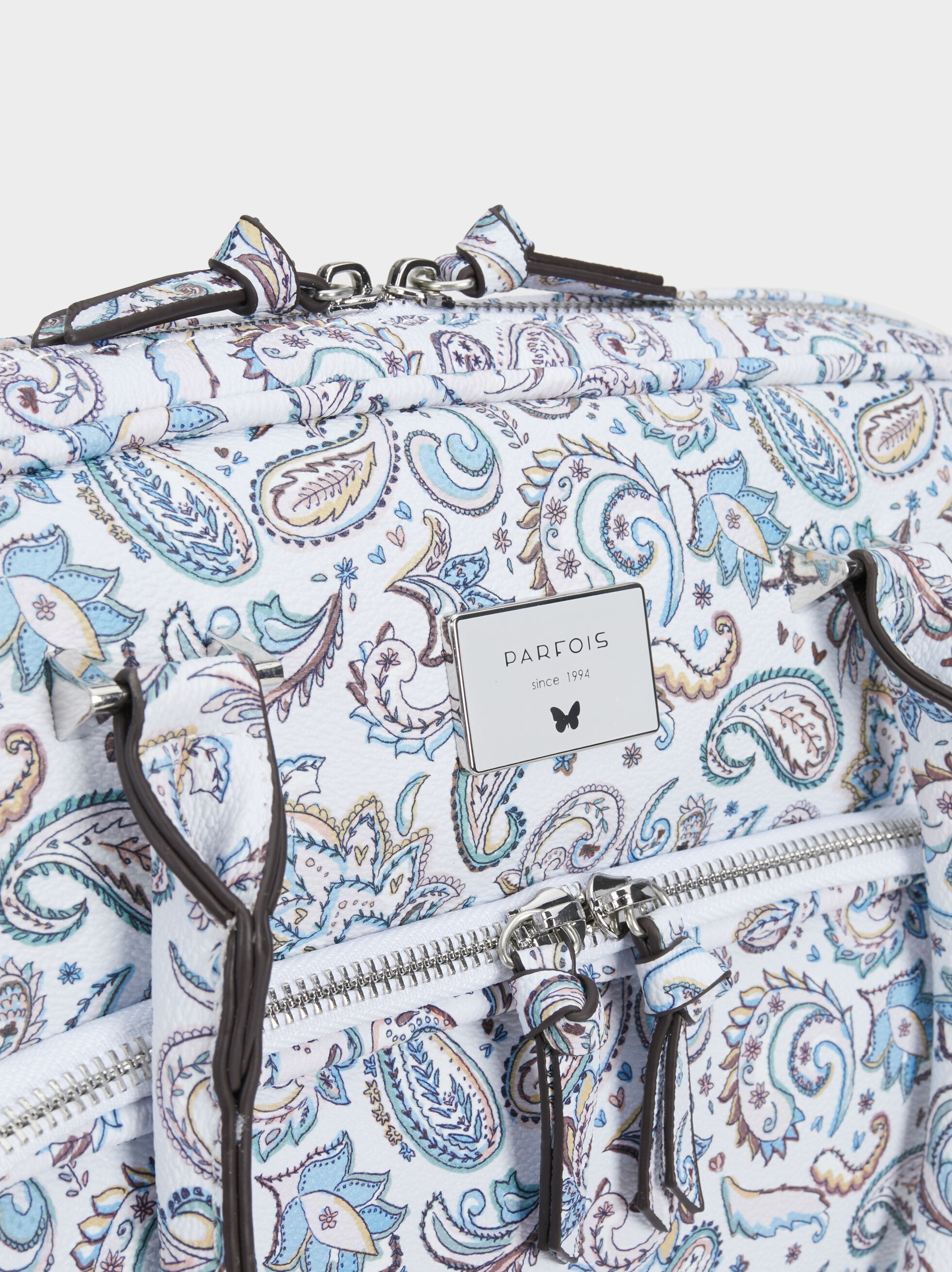 Paisley Print Briefcase, Blue, hi-res