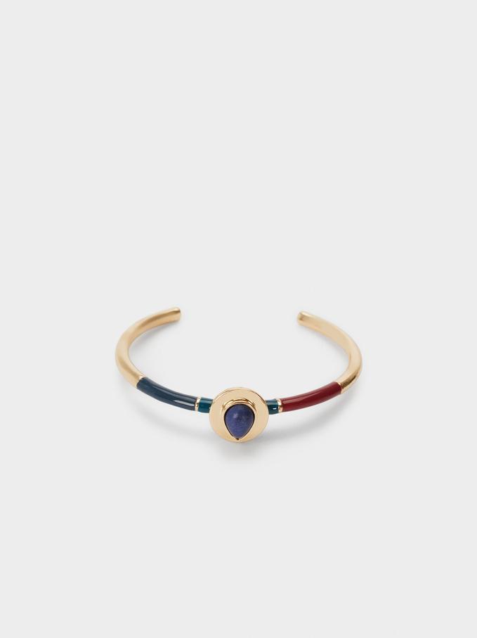 Rigid Bracelet With Stone, Multicolor, hi-res