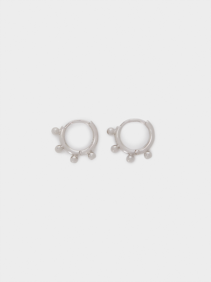 925 Sterling Silver Small Hoop Earrings, Silver, hi-res