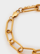Steel Chain Bracelet, Golden, hi-res