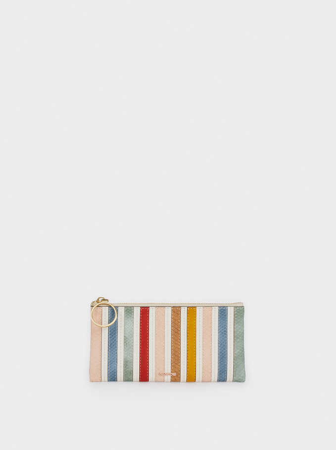Multicoloured Pencil Case, Ecru, hi-res