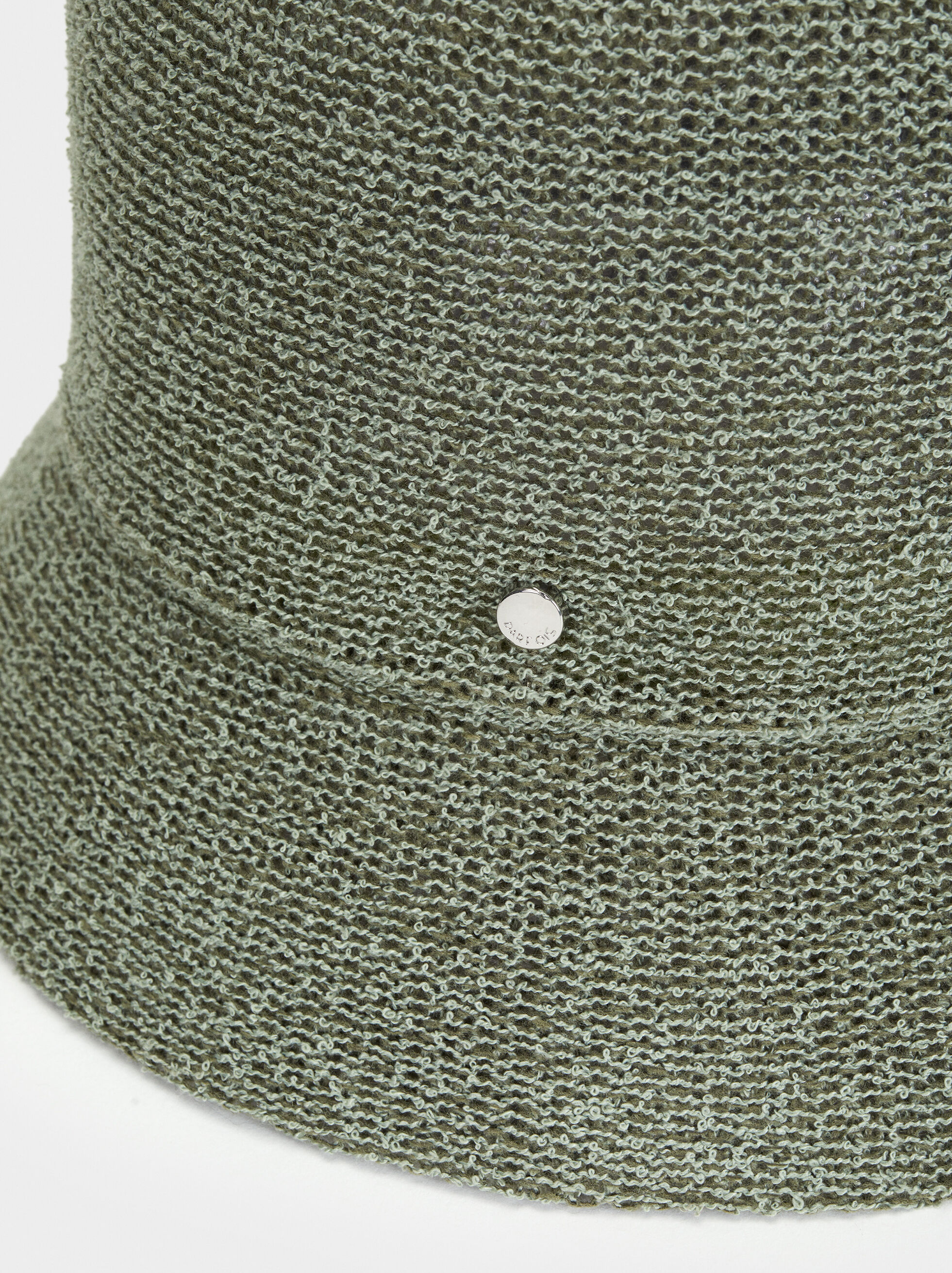 Knitted Hat, Green, hi-res