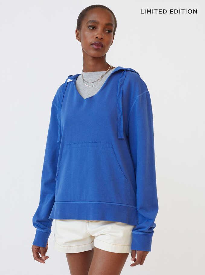 Pull En Maille À Capuche Limited Edition, Bleu, hi-res