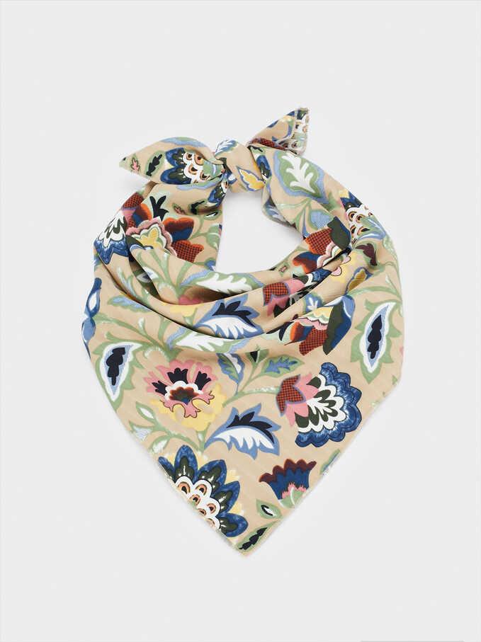 Pañuelo Tipo Diadema Estampado Floral, Multicor, hi-res