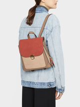 Embossed Backpack, Brick Red, hi-res